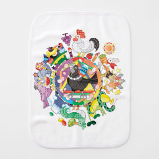 colorful hue circle gradation with black and white バープクロス