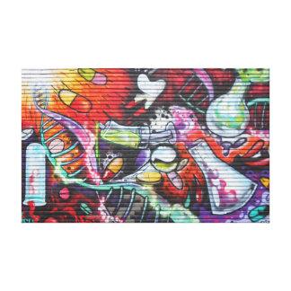 Colorful Medical Theme Graffiti キャンバスプリント