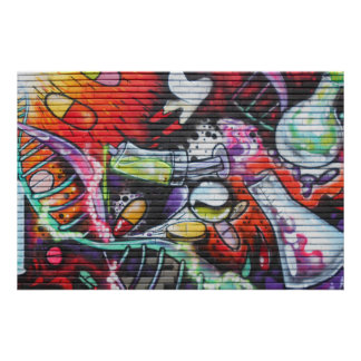Colorful Medical Theme Graffiti ポスター