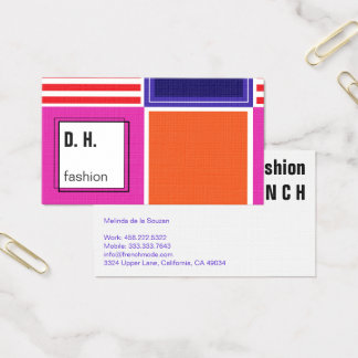 Colorful Modern Geometric Design 名刺