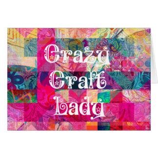 Colorful Pattern Vibrant Crafting熱狂するな技術の女性 カード