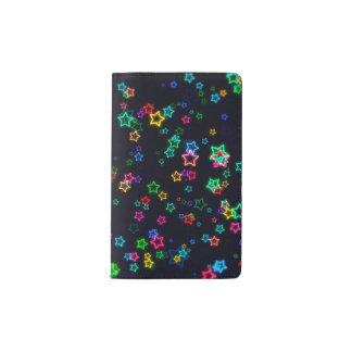 Colorful Pop Neon Star ポケットMoleskineノートブック
