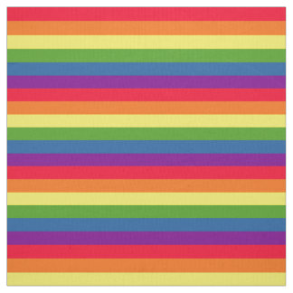 Colorful Rainbow Flag Gay Pride ファブリック