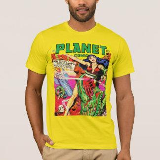 COLORFUL SCI FI PLANET COMICS Tシャツ