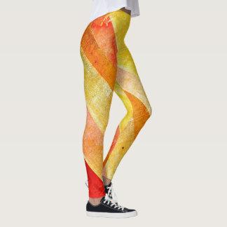 Colorful Sunrise Candy Stripe Leggings YOLO レギンス