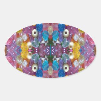 ColorfulBeadyConduct 楕円形シール