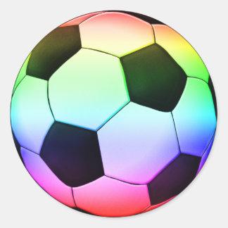 Colorfullのサッカー|のフットボールのスポーツ ラウンドシール