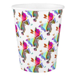 Colorfullの蝶 紙コップ