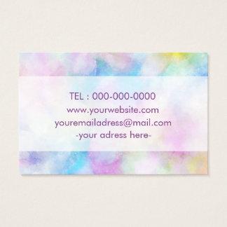 Colorfull Purple Simple Designed Bussines Card 名刺