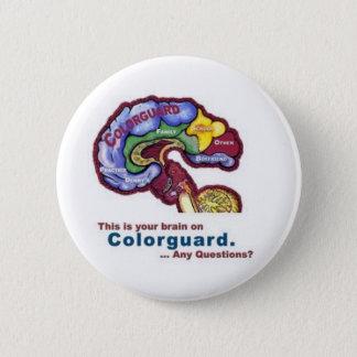 Colorguardのあなたの頭脳 缶バッジ