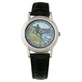 Colorizedルイスおよびクラーク探険のニッケルの腕時計 腕時計
