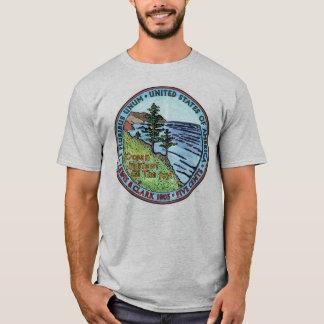 Colorizedルイスおよびクラーク探険のニッケルのTシャツ Tシャツ