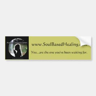 colorlogo、www.SoulBasedHealing.comの……あります バンパーステッカー