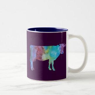 Colorwashed牛 ツートーンマグカップ