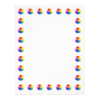 Colorwheelの虹カラフルなスペクトルのフライヤ1 レターヘッド