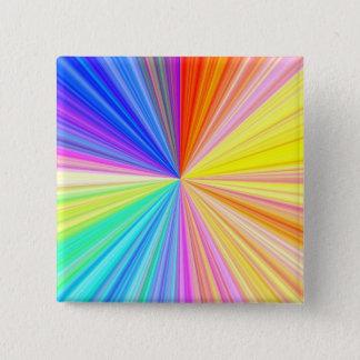 ColorWheelの輝き-楽しむなnの共有の喜び 5.1cm 正方形バッジ
