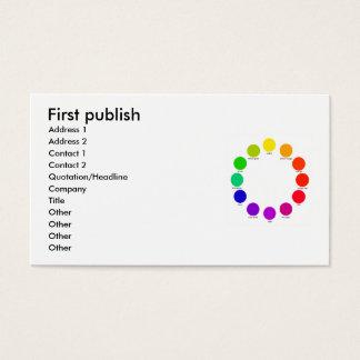 colorwheelは、最初に、住所1の住所2…出版します 名刺