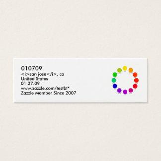 colorwheel、010709、 <i>サンノゼ</i>、統一されたなカリフォルニア… スキニー名刺
