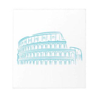 Colosseumの古代ローマの陸標 ノートパッド