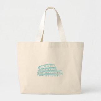 Colosseumの古代ローマの陸標 ラージトートバッグ