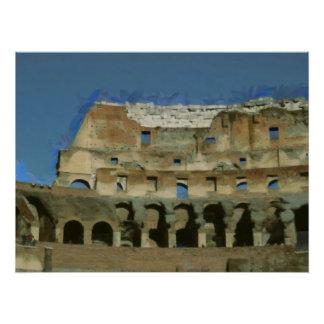 Colosseumの絵画、ローマ ポスター