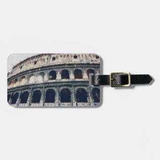 Colosseumの絵画、ローマ ラゲッジタグ