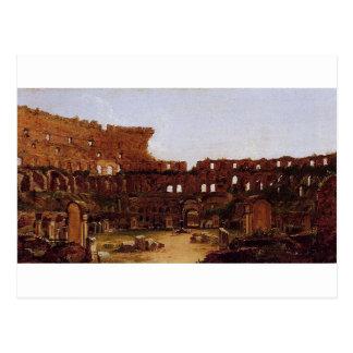 Colosseum、トマスのColeによるローマのインテリア ポストカード