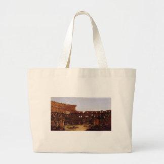 Colosseum、トマスのColeによるローマのインテリア ラージトートバッグ