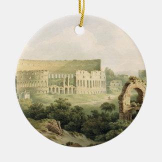 Colosseum、ローマ1802年(w/c woのグラファイトに セラミックオーナメント