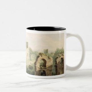 Colosseum、ローマ1802年(w/c woのグラファイトに ツートーンマグカップ