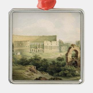 Colosseum、ローマ1802年(w/c woのグラファイトに メタルオーナメント