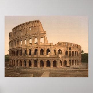 Colosseum、ローマ、イタリアの外面 ポスター