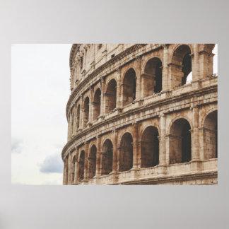 Colosseum、ローマ、イタリア ポスター