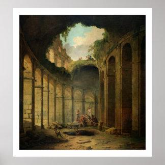 Colosseum、ローマ(キャンバスの油) ポスター