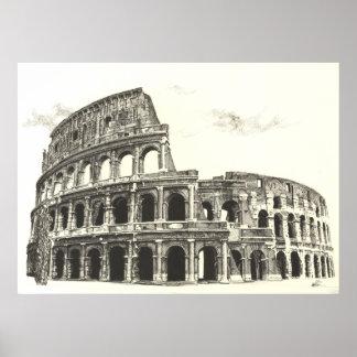 Colosseum -十字の工夫のファインアートのプリント ポスター