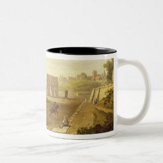Colosseum 1776年(キャンバスの油) ツートーンマグカップ