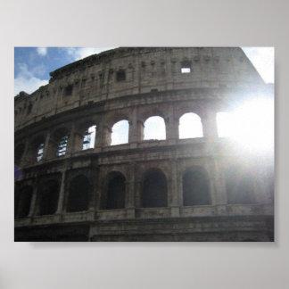 Colosseum (Flavianの円形競技場)、ローマ、イタリア ポスター