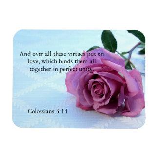 Colossiansの3:14の聖なる書物、経典のばら色の磁石 マグネット