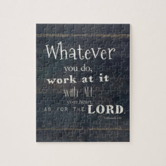 Colossiansの3:23の聖書の詩、聖なる書物、経典の芸術 ジグソーパズル