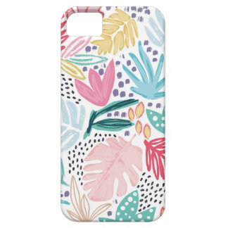 Colourful Tropical Collage Patterned Phone Case iPhone SE/5/5s ケース