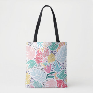 Colourful Tropical Collage Patterned Tote Bag トートバッグ