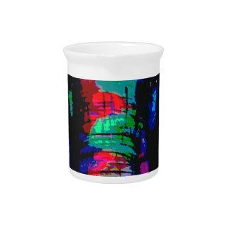 、colourfull ellephant、抽象的な動物カッコいい ピッチャー