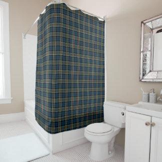 Colquhounの一族のタータンチェックの濃紺の格子縞 シャワーカーテン