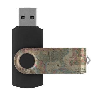 Coltonの鉄道および軍隊の地図 USBフラッシュドライブ
