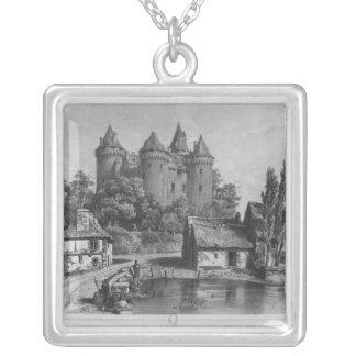 Combourgの城 シルバープレートネックレス