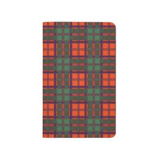 Comby一族の格子縞のスコットランドのキルトのタータンチェック ポケットジャーナル