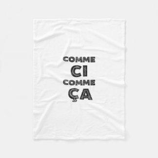 Comme CI、Commeカリフォルニア-おもしろいな表現 フリースブランケット