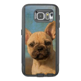 Commutercaseのかわいいフレンチ・ブルドッグの子犬のヴィンテージ オッターボックスSamsung Galaxy S6ケース