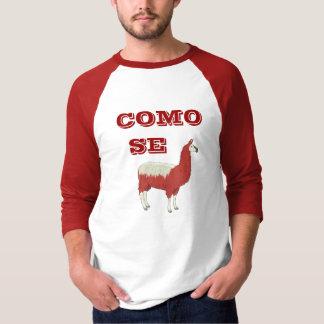 COMO SEのラマのTシャツ Tシャツ