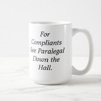 Compliantsのためにホールマグの下のパラリーガルに会って下さい コーヒーマグカップ